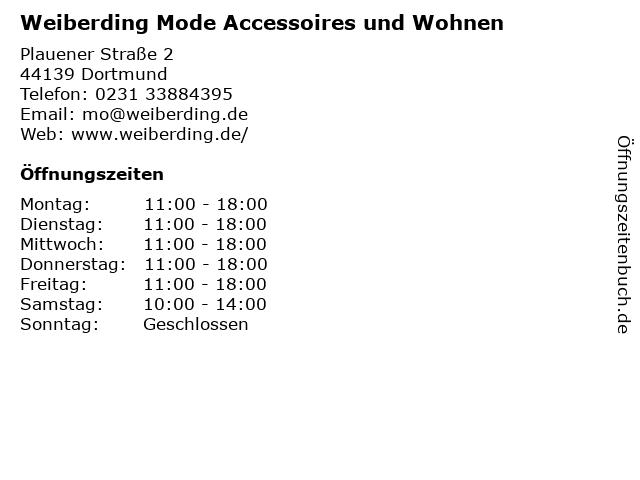 Weiberding Mode Accessoires und Wohnen in Dortmund: Adresse und Öffnungszeiten