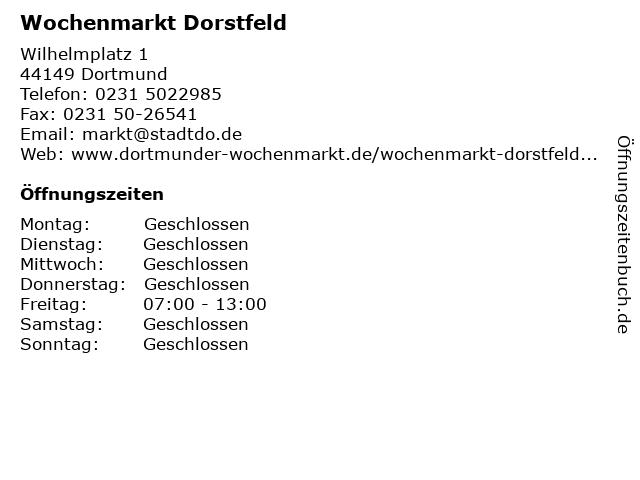 Wochenmarkt Dorstfeld in Dortmund: Adresse und Öffnungszeiten