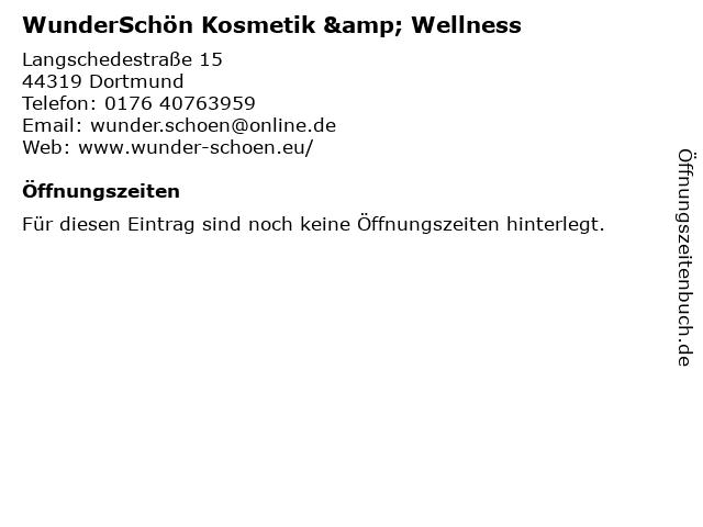 WunderSchön Kosmetik & Wellness in Dortmund: Adresse und Öffnungszeiten