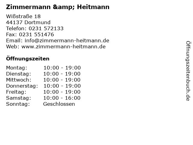 Zimmermann & Heitmann in Dortmund: Adresse und Öffnungszeiten