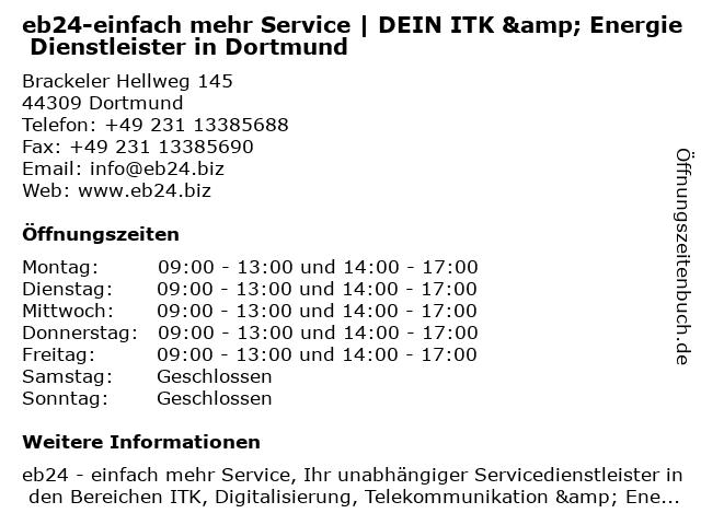 eb24-einfach mehr Service | Strom | Gas | Festnetz | Mobil | Internet sicher wechseln in Dortmund in Dortmund: Adresse und Öffnungszeiten