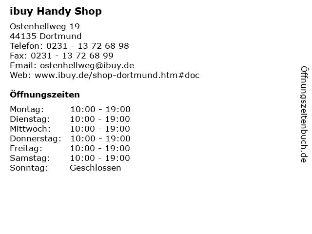 ibuy Handy Shop in Dortmund: Adresse und Öffnungszeiten