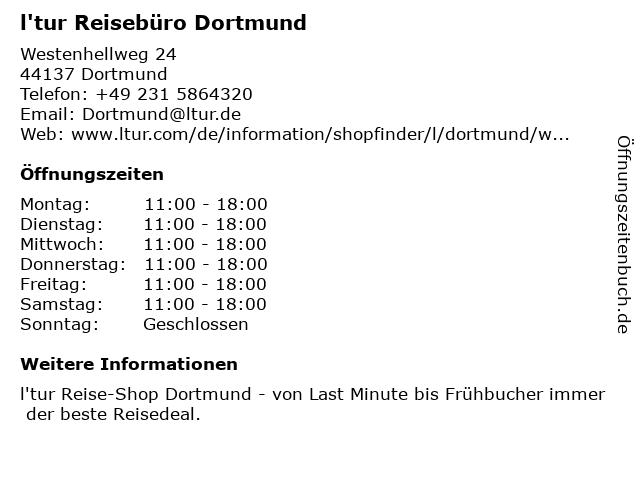 l'tur Reisebüro Dortmund in Dortmund: Adresse und Öffnungszeiten