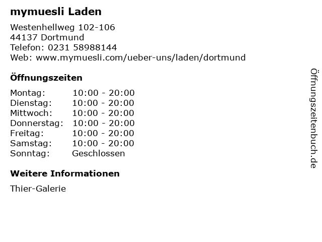 mymuesli Laden in Dortmund: Adresse und Öffnungszeiten