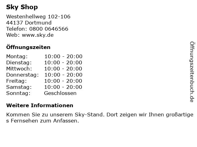 sky Entertainment Point in Dortmund: Adresse und Öffnungszeiten