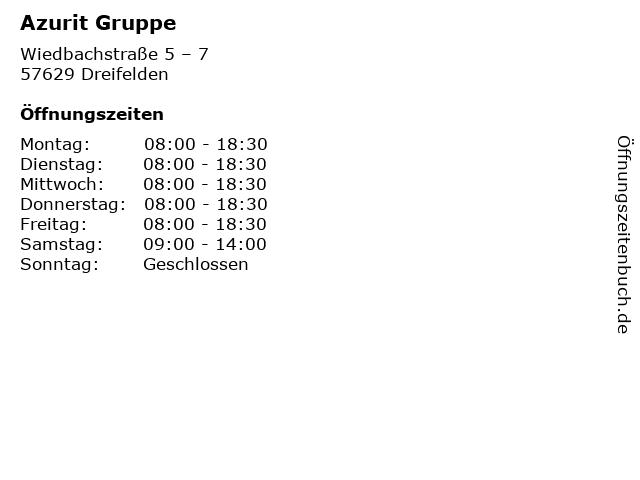 Azurit Gruppe in Dreifelden: Adresse und Öffnungszeiten