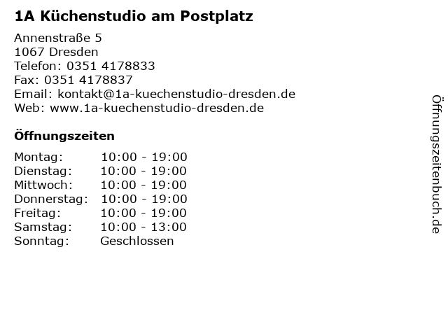 1A Küchenstudio am Postplatz in Dresden: Adresse und Öffnungszeiten