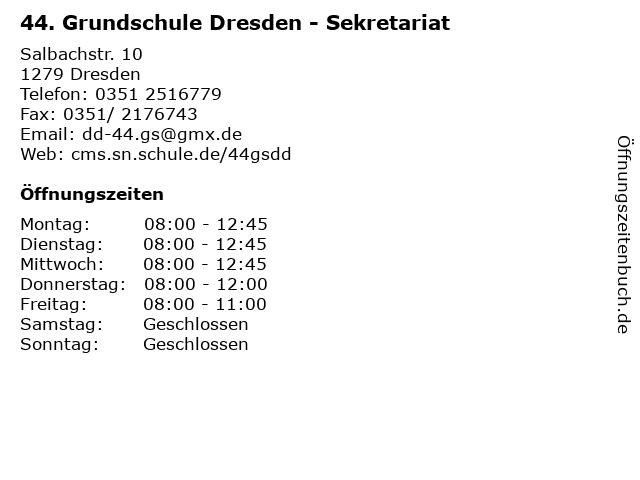ᐅ öffnungszeiten 44 Grundschule Dresden Sekretariat