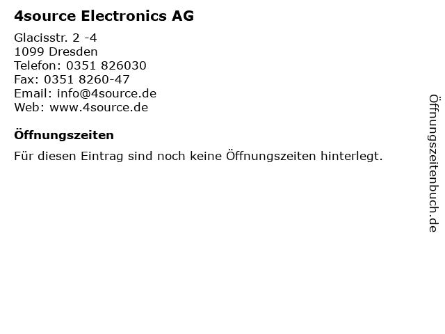4source Electronics AG in Dresden: Adresse und Öffnungszeiten