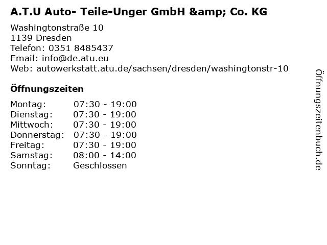 A.T.U Auto- Teile-Unger GmbH & Co. KG in Dresden: Adresse und Öffnungszeiten