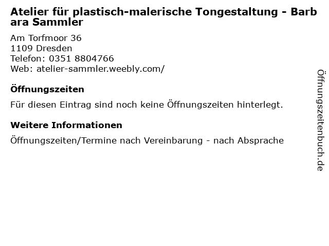 Atelier für plastisch-malerische Tongestaltung - Barbara Sammler in Dresden: Adresse und Öffnungszeiten
