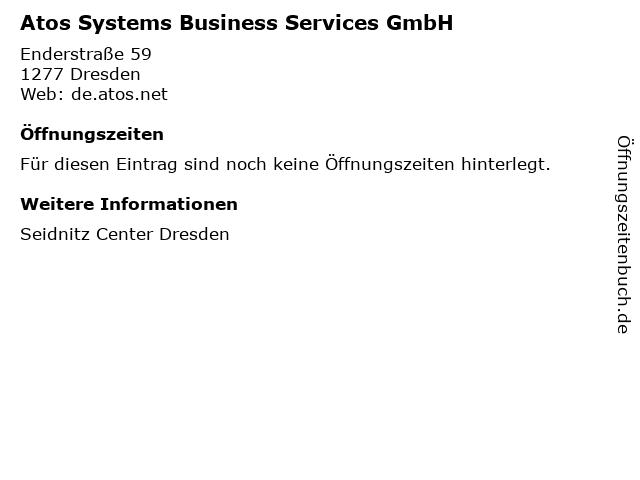 Atos Systems Business Services GmbH in Dresden: Adresse und Öffnungszeiten