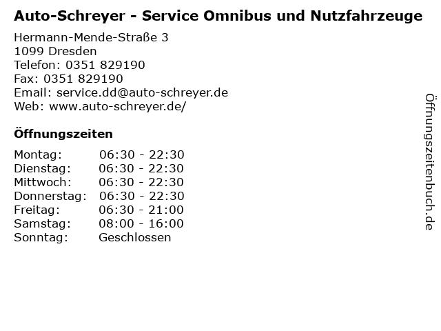 Auto-Schreyer - Service Omnibus und Nutzfahrzeuge in Dresden: Adresse und Öffnungszeiten
