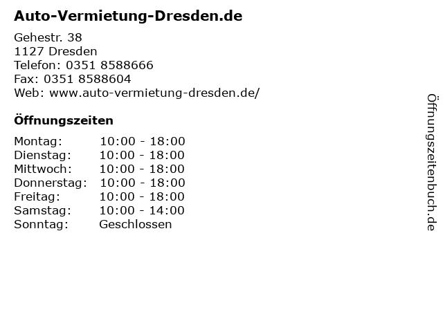 Auto-Vermietung-Dresden.de in Dresden: Adresse und Öffnungszeiten