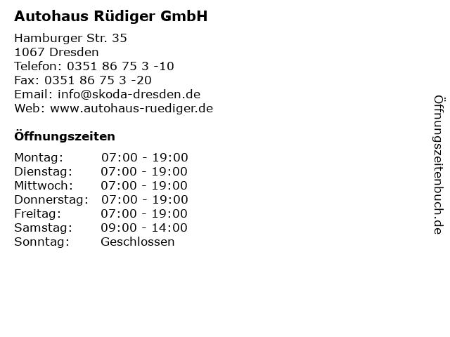 Autohaus Rüdiger GmbH in Dresden: Adresse und Öffnungszeiten
