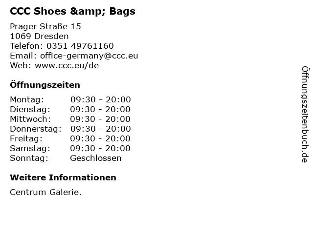 CCC Shoes & Bags in Dresden: Adresse und Öffnungszeiten