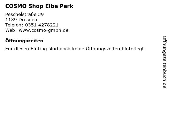COSMO Shop Elbe Park in Dresden: Adresse und Öffnungszeiten