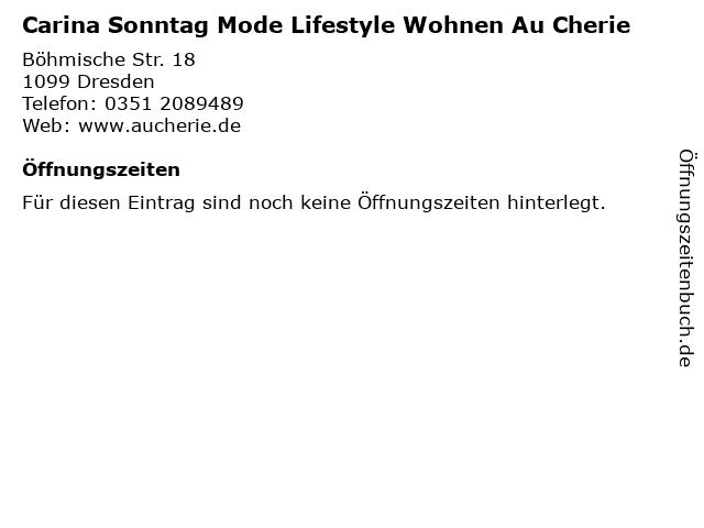 Carina Sonntag Mode Lifestyle Wohnen Au Cherie in Dresden: Adresse und Öffnungszeiten