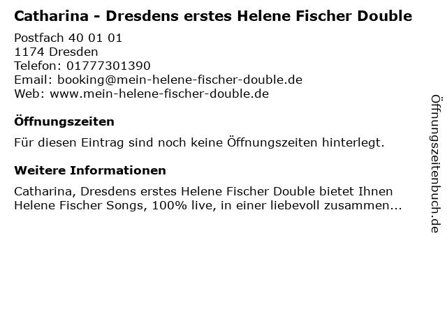 Catharina - Dresdens erstes Helene Fischer Double in Dresden: Adresse und Öffnungszeiten
