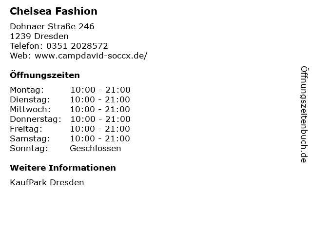 Chelsea Fashion in Dresden: Adresse und Öffnungszeiten