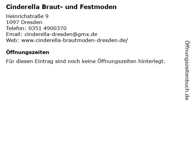 Cinderella Braut- und Festmoden in Dresden: Adresse und Öffnungszeiten