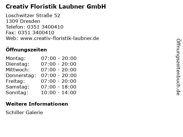 Creativ Floristik Laubner GmbH in Dresden: Adresse und Öffnungszeiten