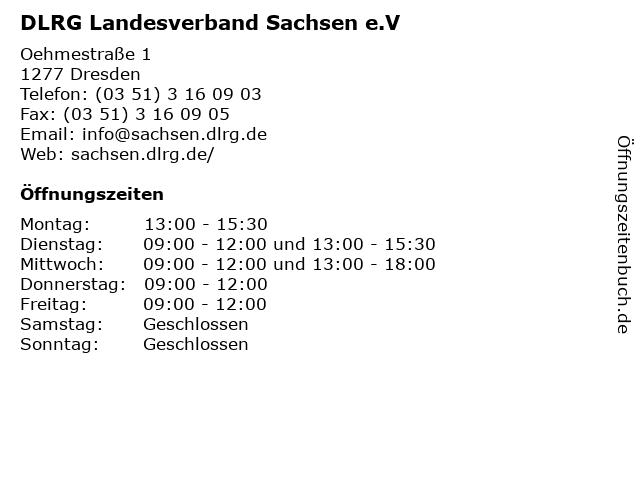 DLRG Landesverband Sachsen e.V in Dresden: Adresse und Öffnungszeiten
