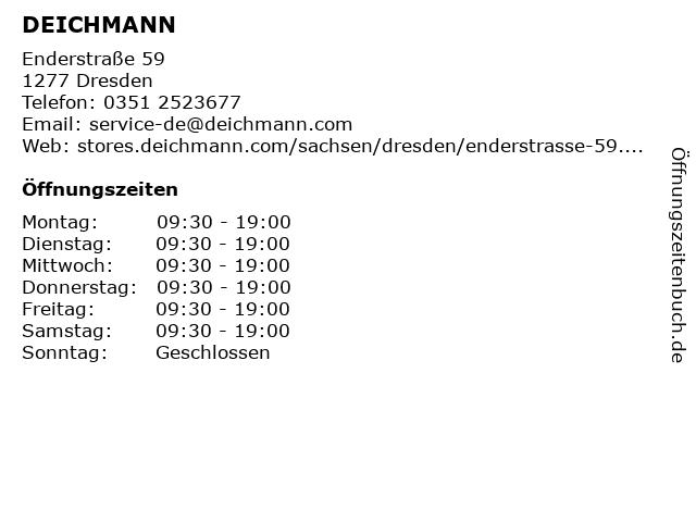 DEICHMANN Schuhe in Dresden: Adresse und Öffnungszeiten