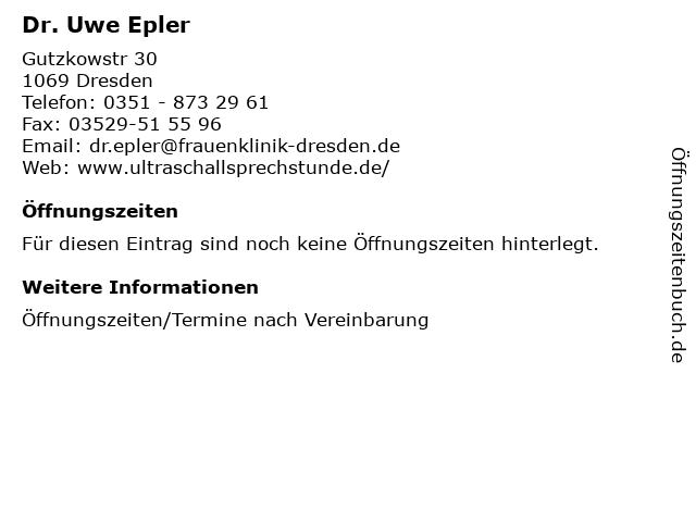 Dr. Uwe Epler in Dresden: Adresse und Öffnungszeiten
