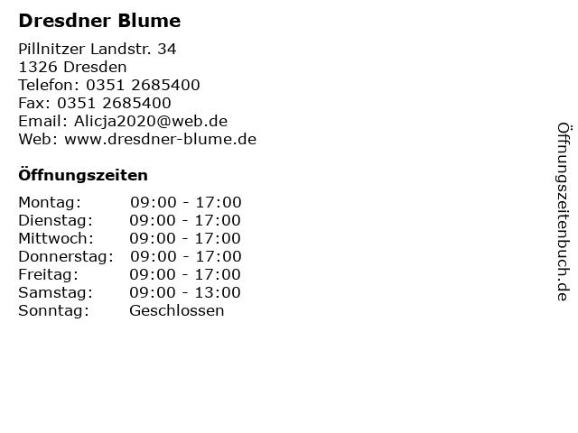 Dresdner Blume in Dresden: Adresse und Öffnungszeiten