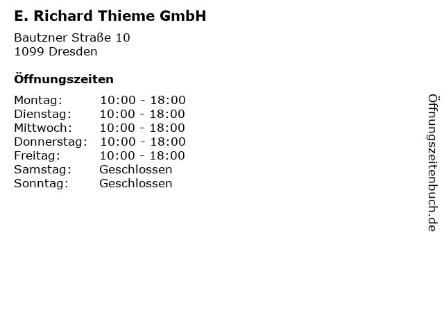 E. Richard Thieme GmbH in Dresden: Adresse und Öffnungszeiten