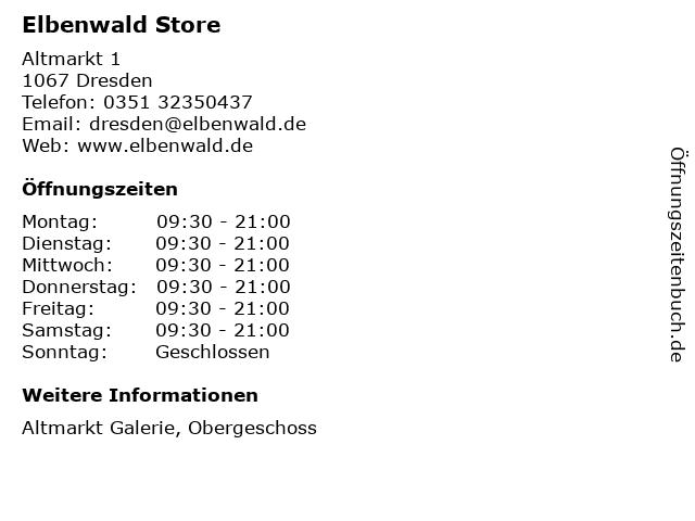 Elbenwald Store in Dresden: Adresse und Öffnungszeiten