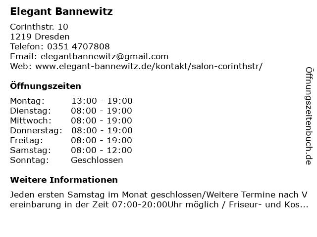 Elegant Bannewitz in Dresden: Adresse und Öffnungszeiten