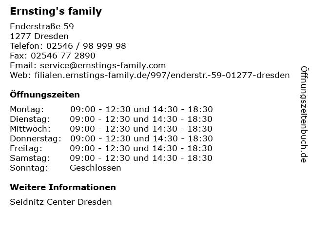 Ernsting's family GmbH & Co. KG in Dresden: Adresse und Öffnungszeiten
