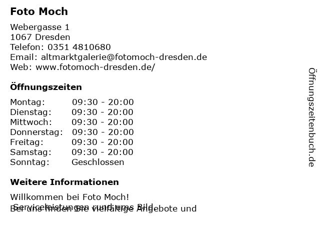 Foto Moch in Dresden: Adresse und Öffnungszeiten