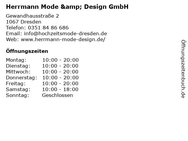 Herrmann Mode & Design GmbH in Dresden: Adresse und Öffnungszeiten