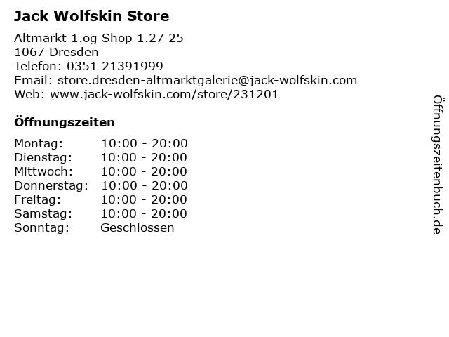 Jack Wolfskin Store in Dresden: Adresse und Öffnungszeiten