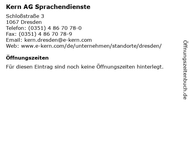 KERN AG Sprachendienste in Dresden: Adresse und Öffnungszeiten
