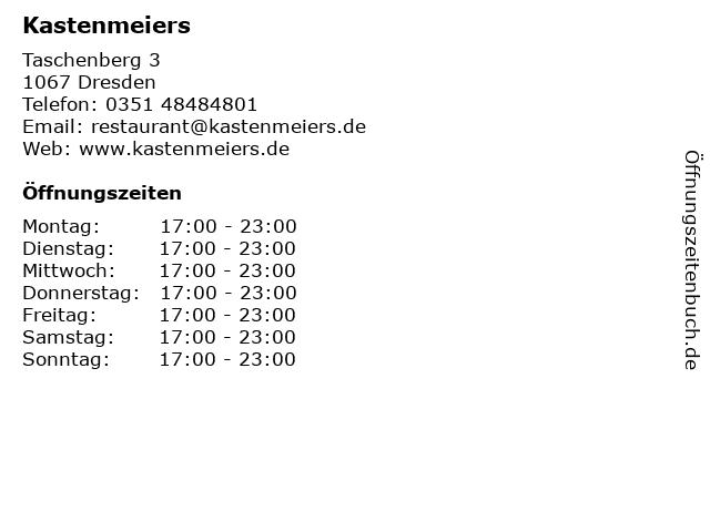 Kastenmeiers in Dresden: Adresse und Öffnungszeiten