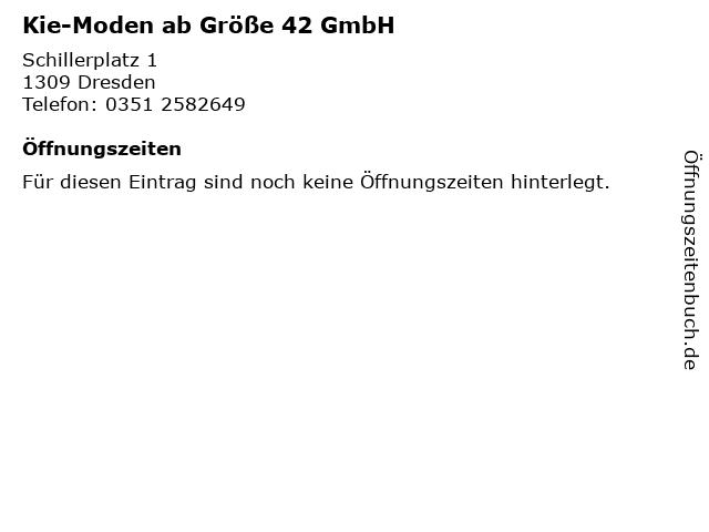 Kie-Moden ab Größe 42 GmbH in Dresden: Adresse und Öffnungszeiten