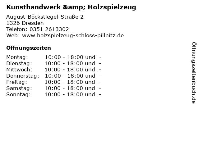 Kunsthandwerk & Holzspielzeug in Dresden: Adresse und Öffnungszeiten