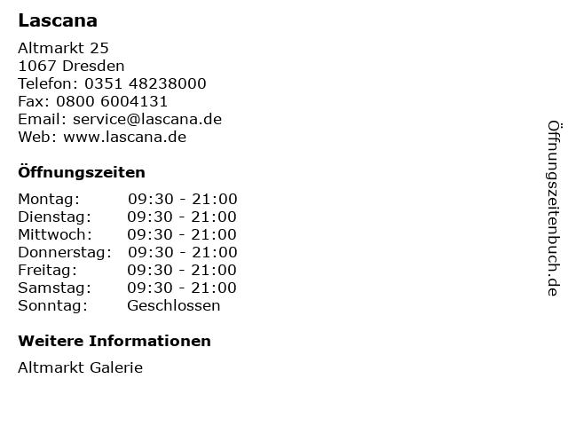 Lascana in Dresden: Adresse und Öffnungszeiten