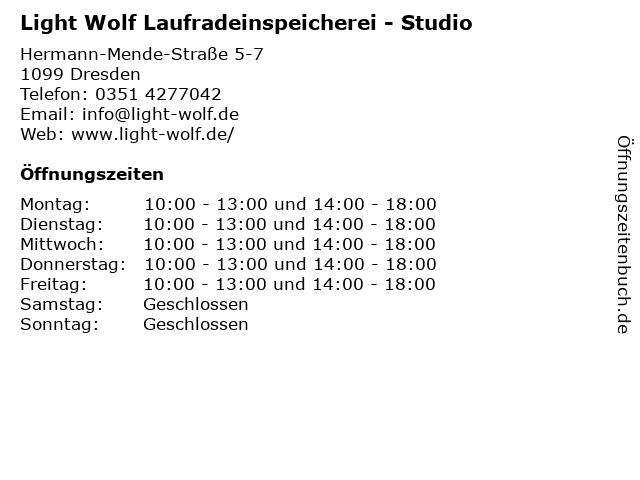 Light Wolf Laufradeinspeicherei - Studio in Dresden: Adresse und Öffnungszeiten