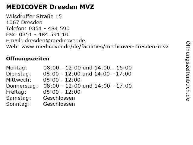 MEDICOVER Dresden MVZ in Dresden: Adresse und Öffnungszeiten