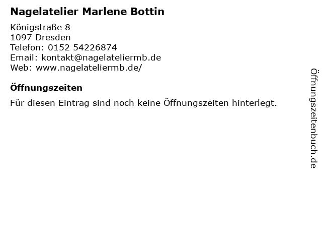 Nagelatelier Marlene Bottin in Dresden: Adresse und Öffnungszeiten