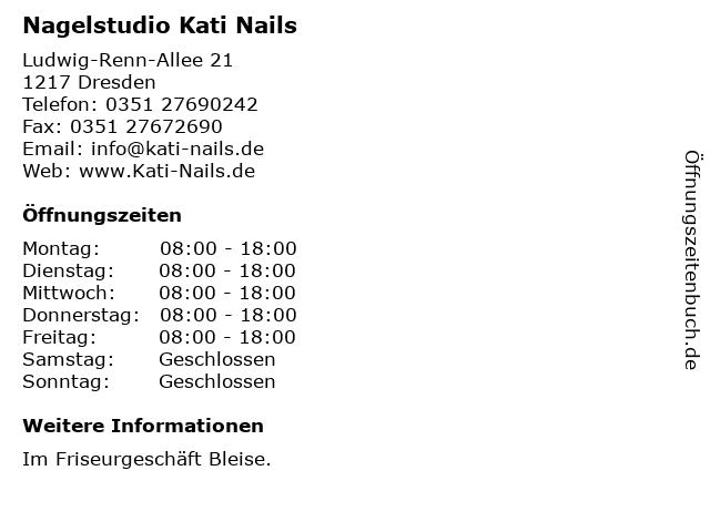 Nagelstudio Kati Nails in Dresden: Adresse und Öffnungszeiten