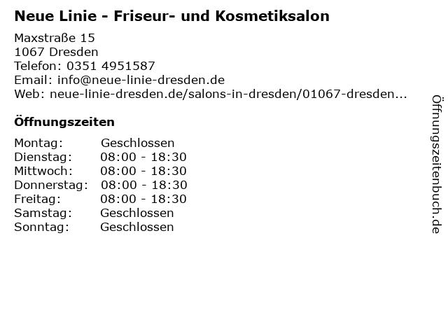 Neue Linie - Friseur- und Kosmetiksalon in Dresden: Adresse und Öffnungszeiten