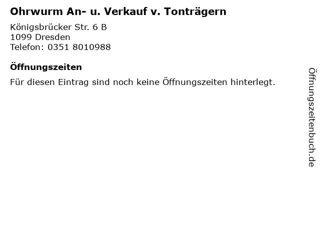 Ohrwurm An- u. Verkauf v. Tonträgern in Dresden: Adresse und Öffnungszeiten