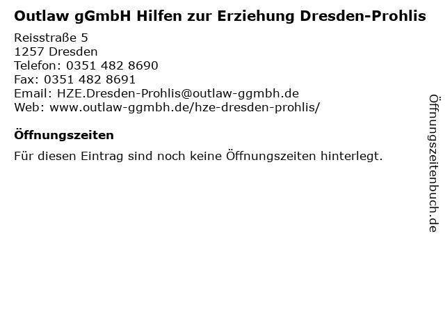 Outlaw gGmbH Hilfen zur Erziehung Dresden-Prohlis in Dresden: Adresse und Öffnungszeiten