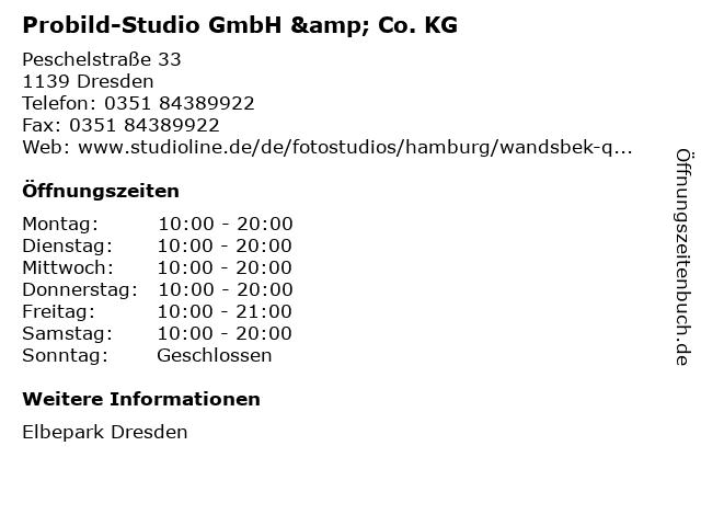 Probild-Studio GmbH & Co. KG in Dresden: Adresse und Öffnungszeiten